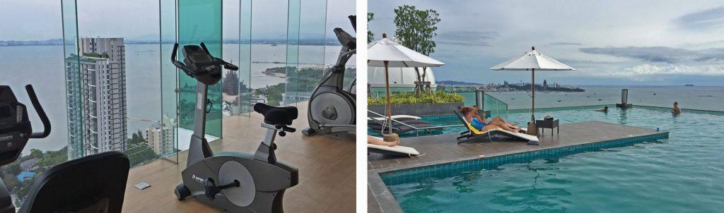 Fitnesscenter und Swimmingpool Luxus Eigentumswohnung