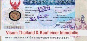 Visum Thailand - Immobilienkauf