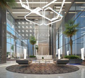 Lobby im Luxushochhaus in Pattaya
