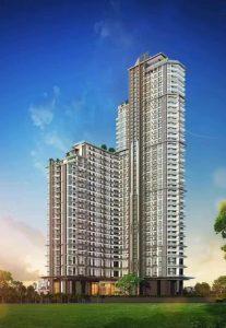 Hochhaus Eigentumswohnungen in Südpattaya mit Meersicht