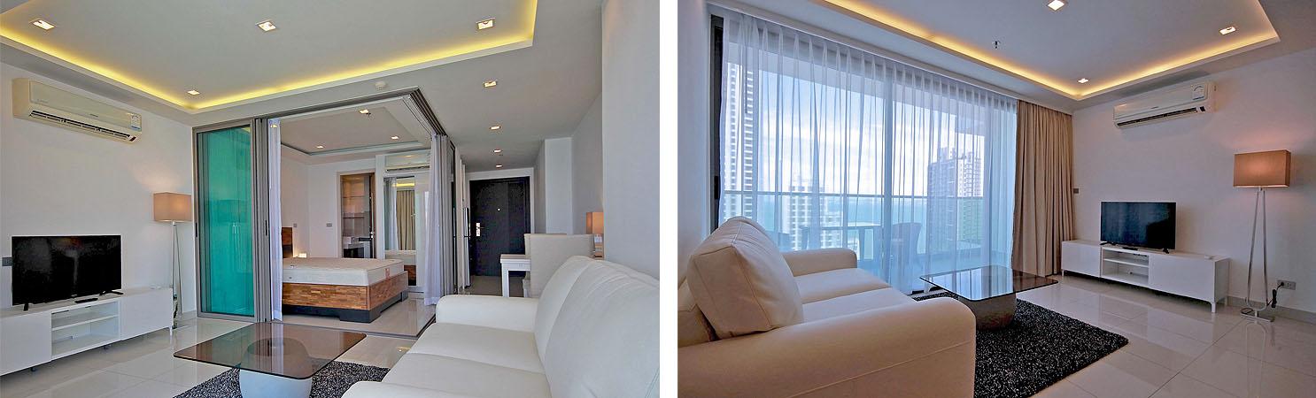 Mietwohnung Naklua Wongamat Strand - Neubau Erstbezug