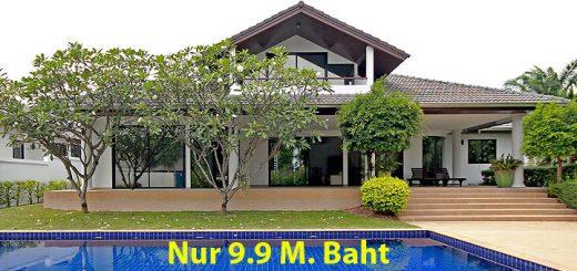 Gelegenheit : Preiswerte Villa mit Swimmingpool in Schweizer Bauqualtiät in Pattaya