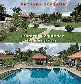 Tropische Residenz in Pattaya mit Gästehäusern und Riesengarten