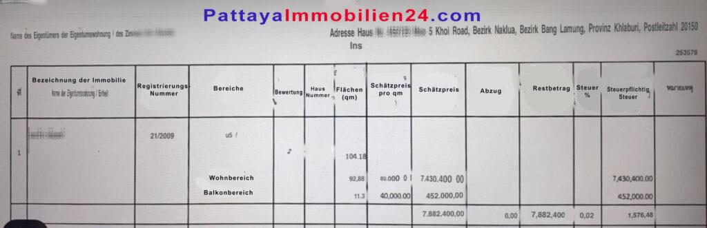 Grundsteuerberechnung-Steuerbescheid-Thailand-2020-deutsche-Uebersetzung